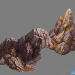 一组精美手绘写实石头模型资源