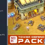 unity3d科幻塔防场景模型包SCI-FI Tower Defense Pack 2